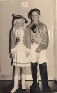 Friedhelm Klein mit Tanzmariechen Doris Nymphius